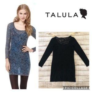Aritzia Talula Clarendon Black Lace Mini Dress